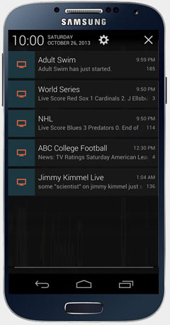 TVtoMobi notification examples